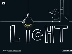imagen del verbo to light