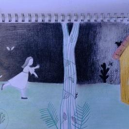 Dibujos en cuadernos
