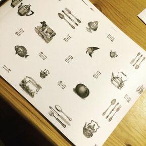 Diseño de manteles indivuales para proyecto personal