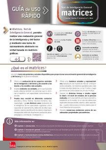 Diseño de guía básica de la prueba MATRICES dirigida a la web