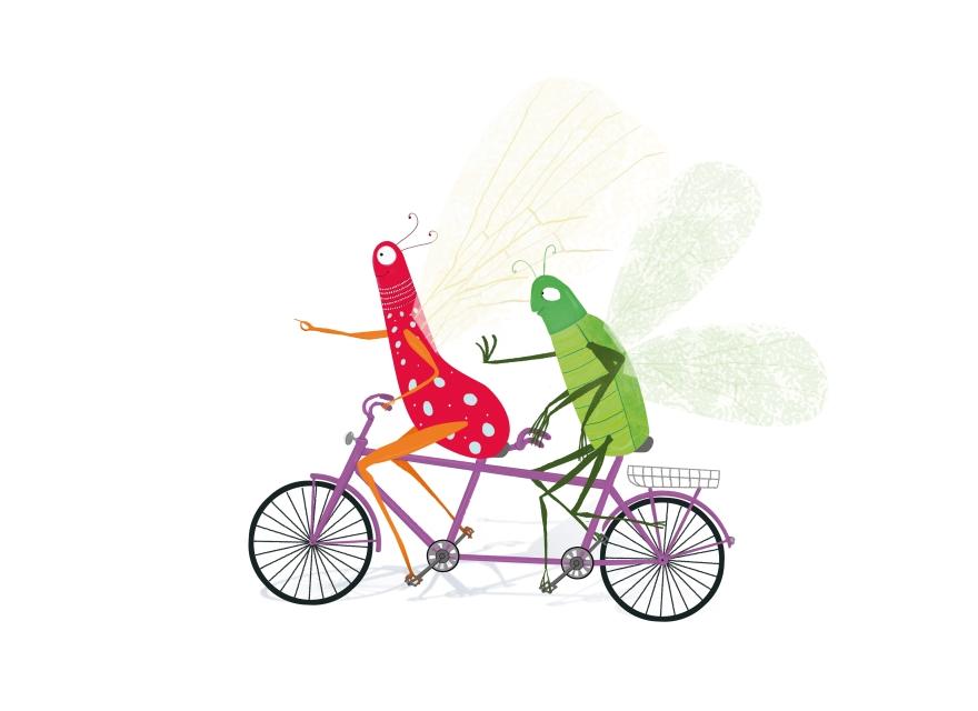 Insectos en bici